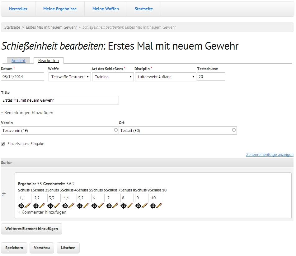Online Schiessbuch Inklusive Auswertungen Auswertung Meisterschutzen