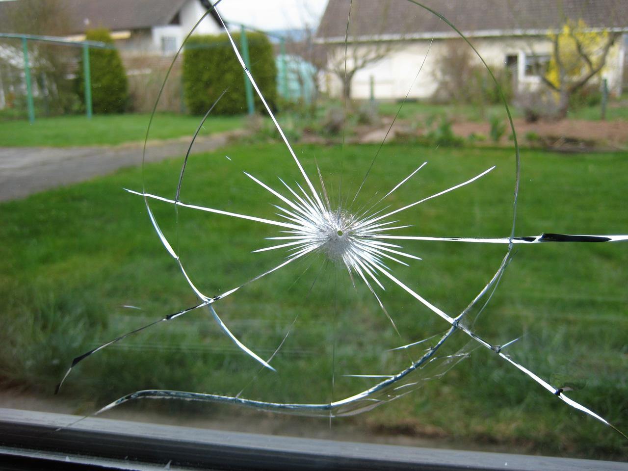 Einschuss in Fensterscheibe??? - Offtopic - Meisterschützen