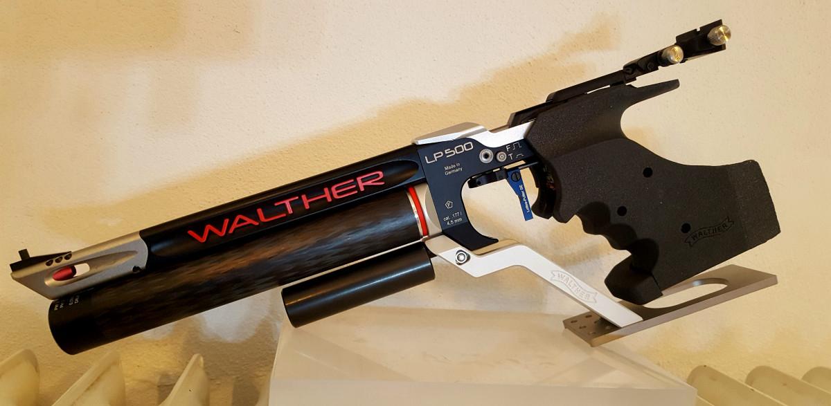 Walther LP 500 Meistermanufaktur mit Lottes Sporttechnik 250 Gr. Gewicht
