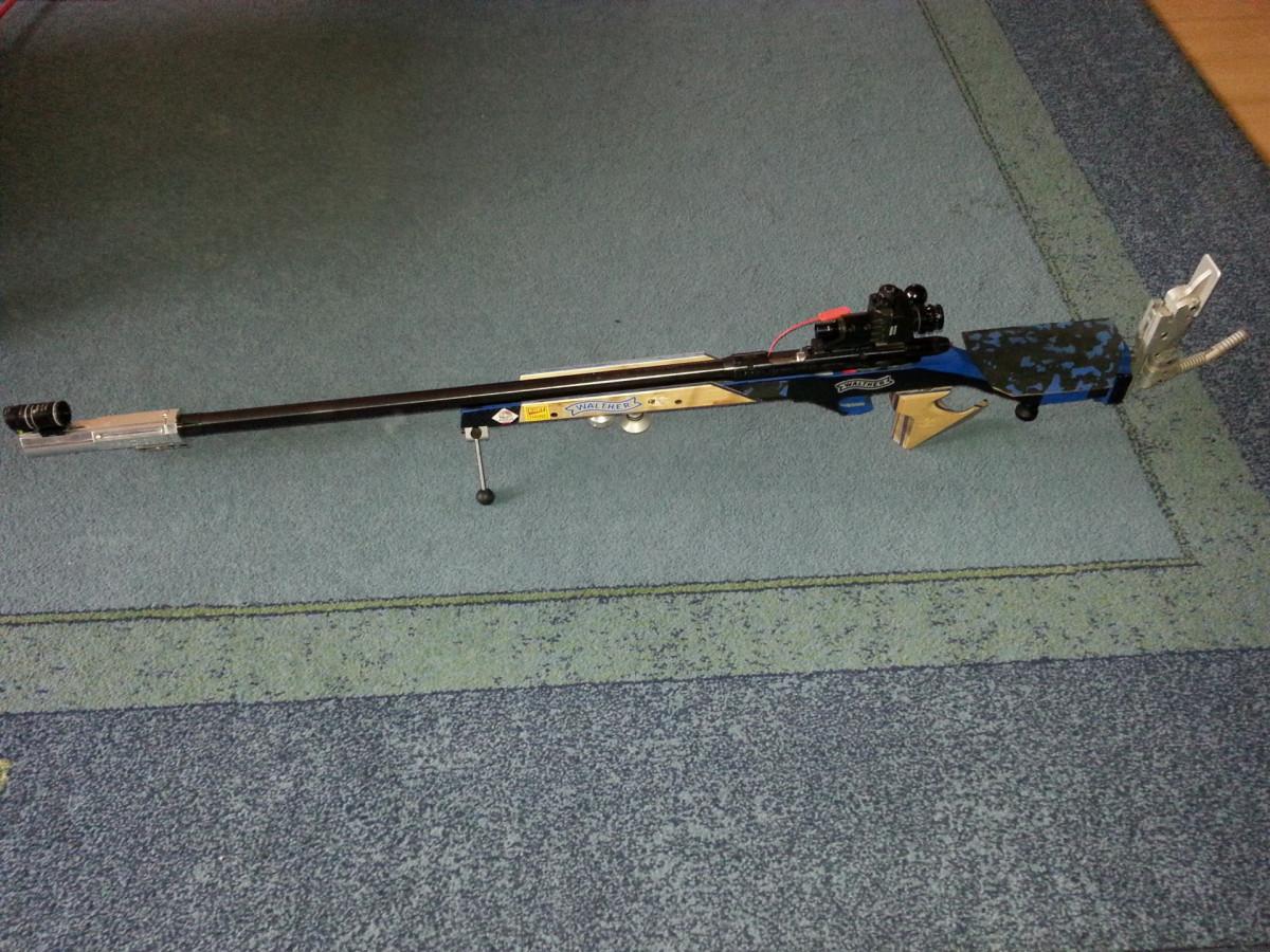 Anschütz1907 System im Walther KK300 Aluschaft