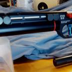 Steyr EVO 10 mit FWB-Auflage und HDR-Zusatzgewicht für Walther LP 500