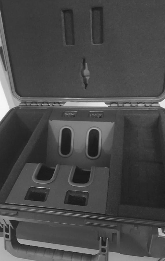 Waffenkoffer Case Cruzer für 2 GK mit Zubehör